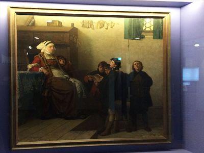 Luther als Kurrende-Sänger bei Frau Cotta, <br>die ihn in ihr Haus aufnahm